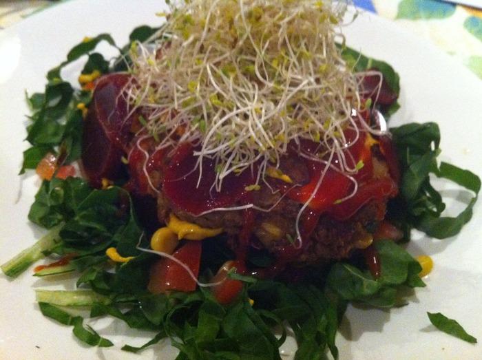 Raw Burger (Vegan, Organic, Gluten Free)