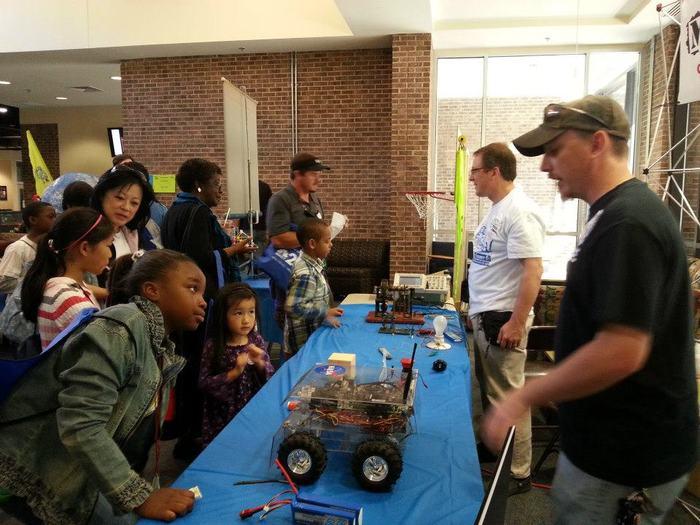 Chris WIlliamson of Team SpacePRIDE at a science educaiton event.