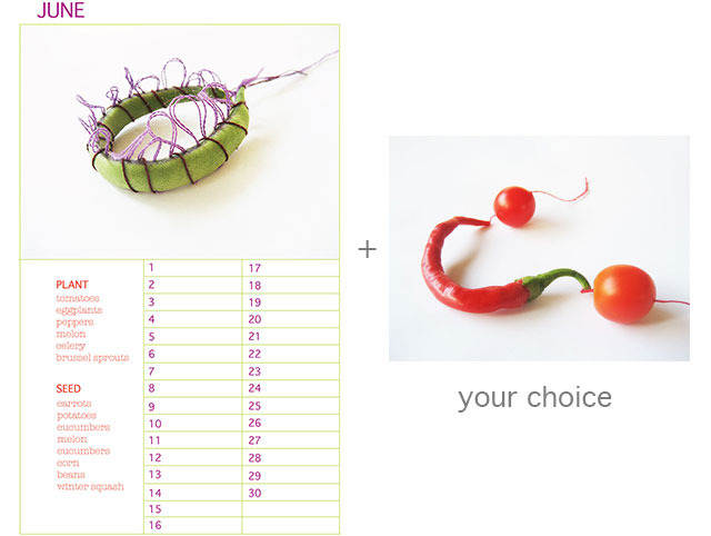 "Planting Calendar plus 9"" x 12 Limited Edition Print of your Choice"