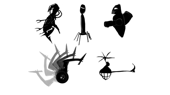 Enemy Silhouette Concepts