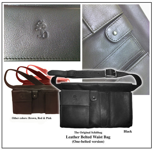 Reward #4: The Original Schitbag one-belted version in Leather