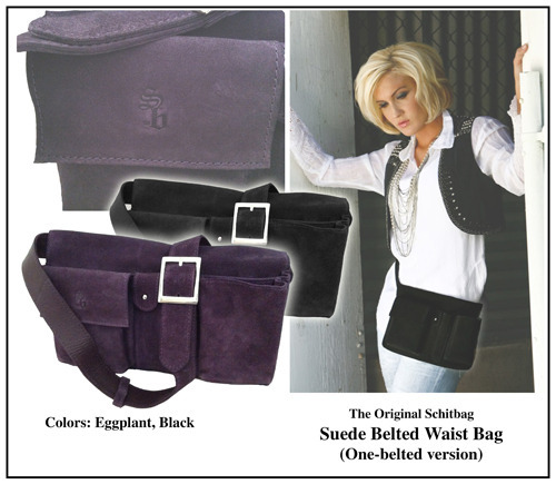 Reward #4:  The Original Schitbag in suede