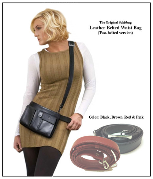 Reward #5: The Original Schitbag Two Belted Version in Leather.