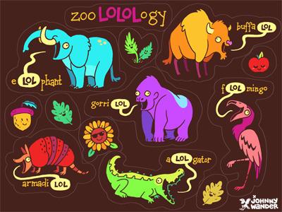 ZooLOLogy sticker sheet
