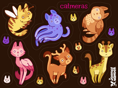 Catmeras sticker sheet