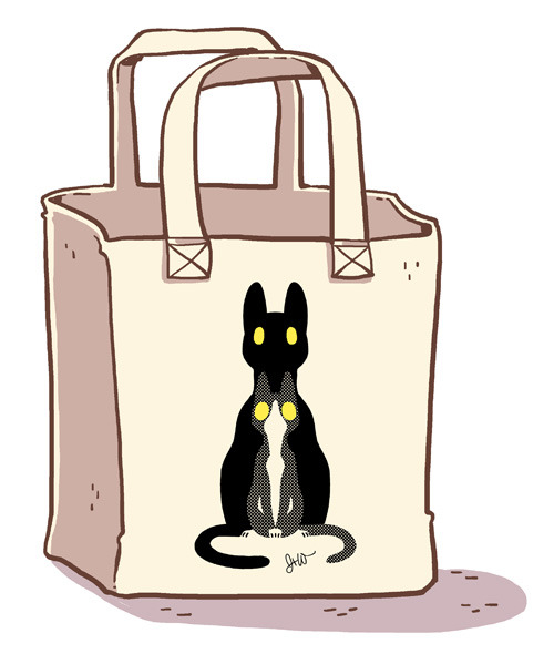 Nesting Cats push goal tote bag