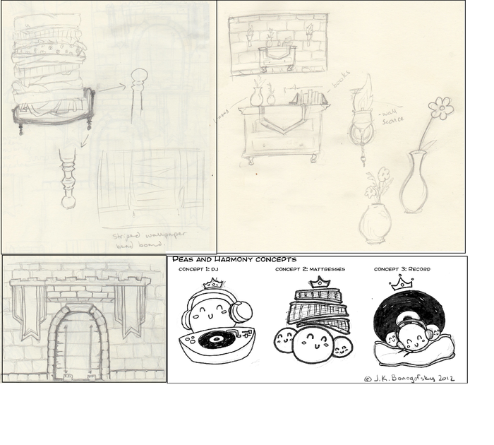 Set and Show Logo Sketch Concepts by Jimi Bonogofsky