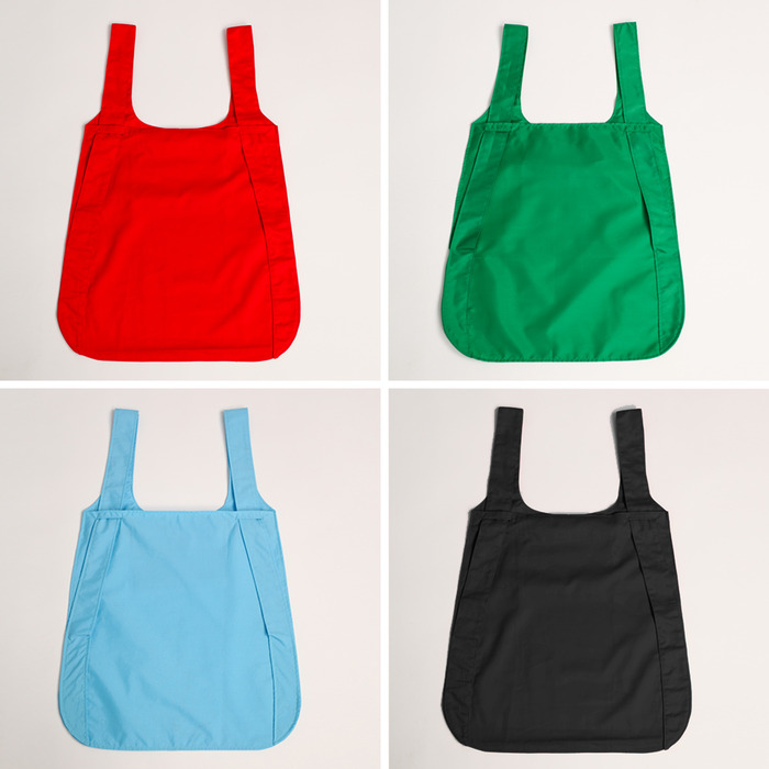 Notabag is available in four colors: red, green, blue and black
