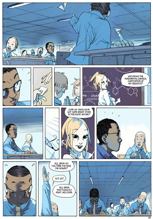 "page 1 of 6 ""Genetika: Gene Prep School Dream Sequence"" story.darion d'anjou art.bengal"