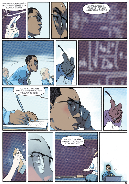 "page 2 of 6 ""Genetika: Gene Prep School Dream Sequence"" story.darion d'anjou art.bengal"