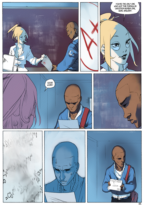 "page 5 of 6 ""Genetika: Gene Prep School Dream Sequence"" story.darion d'anjou art.bengal"