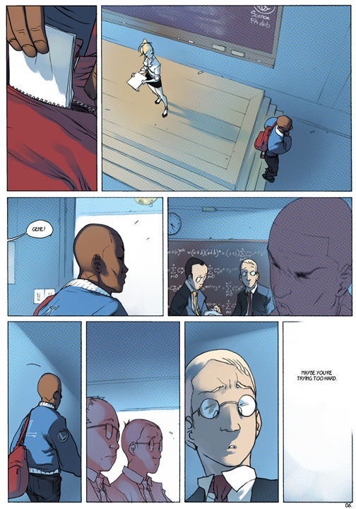 "page 6 of 6 ""Genetika: Gene Prep School Dream Sequence"" story.darion d'anjou art.bengal"