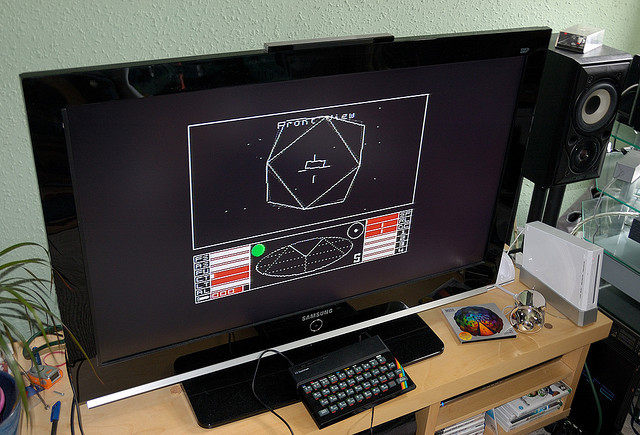 Elite on the ZX Spectrum. Ah, those 8-bit days!