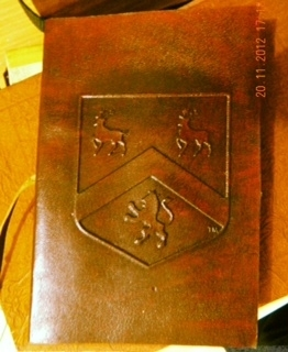 "The Bells & Bain ""Billion Dollar Book"", 4""x 6"" leather journal. Everyone has a beautiful mind. And to not jot your valuable thoughts down would be doing yourself an injustice. Where would be a better place to do so, other than this leather journal?"