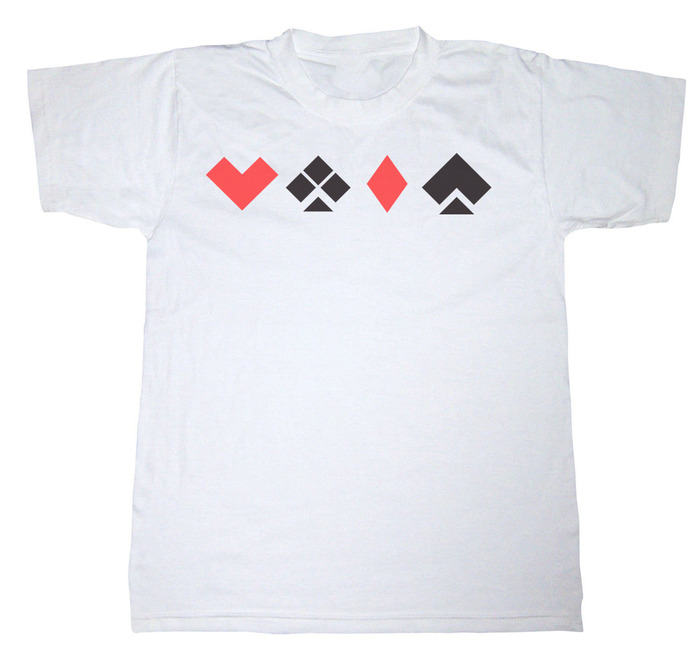 White T-Shirt with the Stealth Deck Symbols (L or XL)