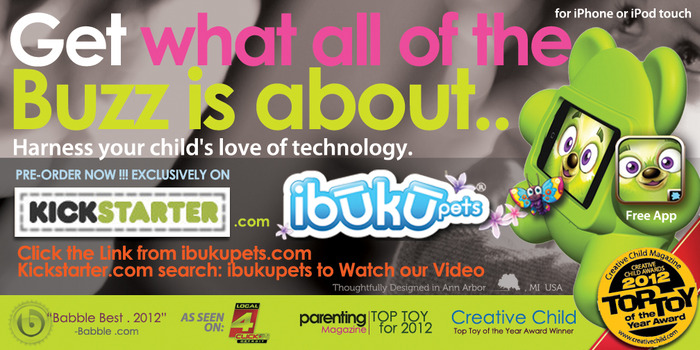 iBuku Pets are a 2012 Top Toy as seen in Parenting Magazine. Our little kid-friendly characters have been recently Awarded 2012 Top Toy of the Year By Creative Child Magazine and are near the top of Babble.com's 2012 Best Toys List.
