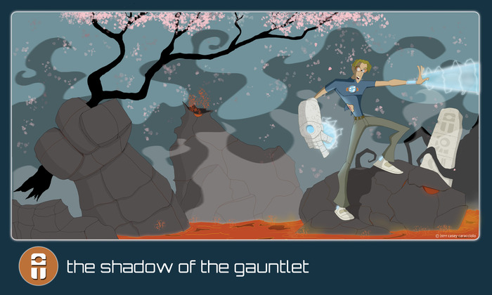 The Shadow of the Gauntlet animated print