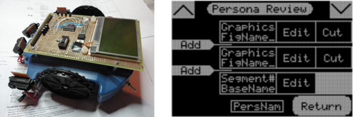 "Functional prototype with ""Persona"" programming interface screen shot"
