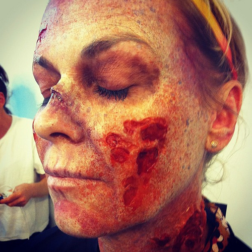Makeup Effects class by Brian Hillard of KNB Special Effects