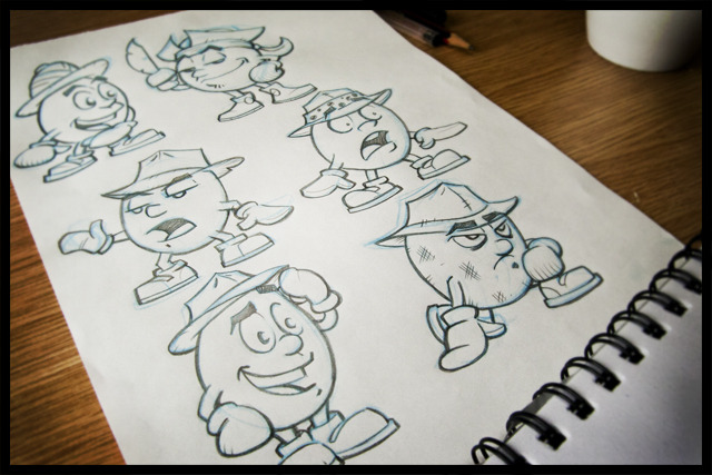 Concept sketches of Dizzy