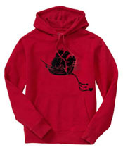 Silkscreen'd pirate hoodie for toddler!