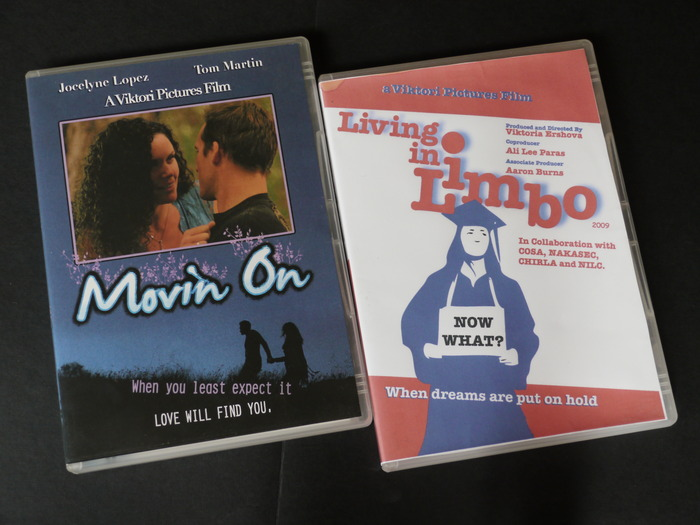 DVDs of Viktoria's previous movies
