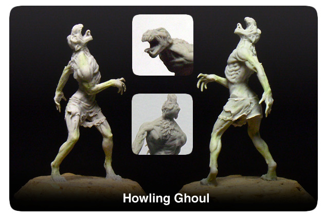 The Howling Ghoul- A poor wretched scavenger. It survives off the flesh of corpses and hates all living things.