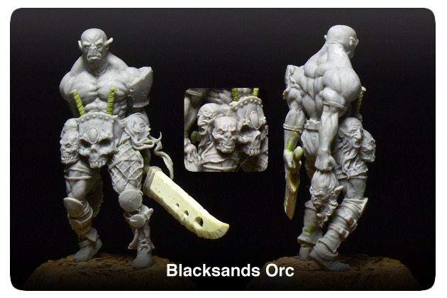 An Orc of the Blacksands- The embodiment of a perfect warrior. Trained at brutal combat from birth and taught to survive in the most inhospitable climate on the planet.