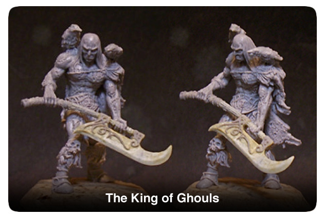 "The King of Ghouls- Once a mighty warrior, now he roams the earth, thrice damned and undying, tormented by the echoes of his past life and mocked by his ravens ""Gone! Gone!"""