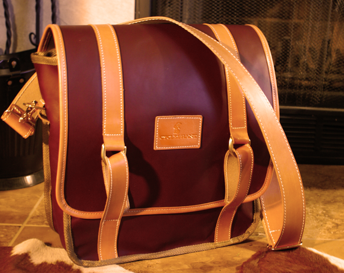 "The ""Brussels"" Leather Messenger, handcrafted in USA"