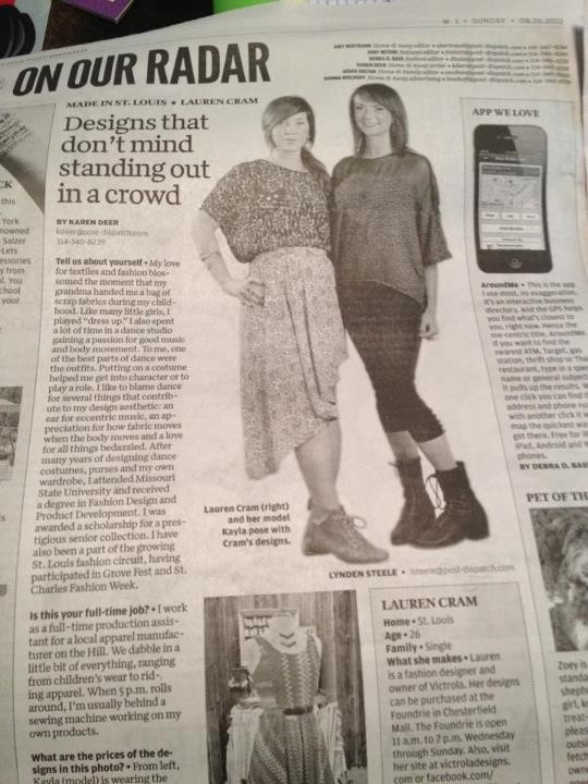 August 2012 newspaper feature on VICTROLA.
