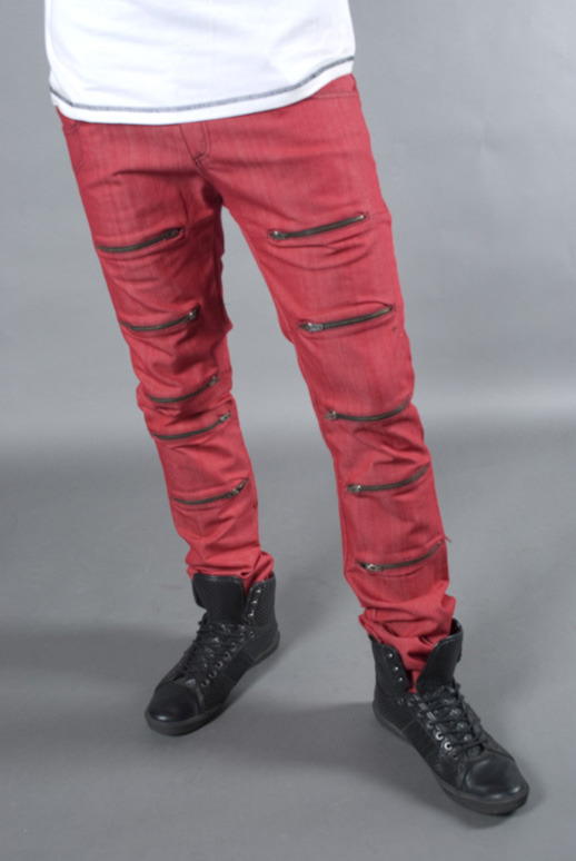 Zipskinny Jeans, Men's/Women's (colors:red,gray,blue,white,black) sizes: 22-34