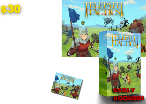 At $30, you'll get everything above, plus a cool Telepath Tactics postcard.