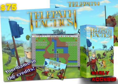 "At $75, get everything in the $50 tier plus an awesome, full-color 24"" x 18"" Telepath Tactics poster."