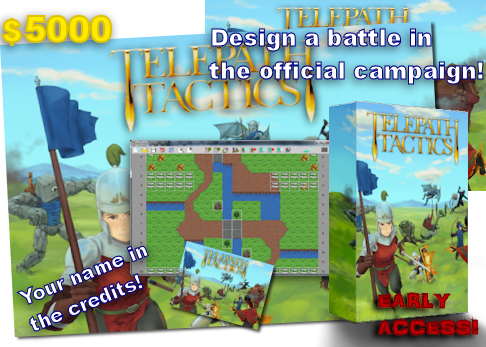 At $5000, you can work with me to design a battle in the official campaign! You'll also be credited as an Assistant Designer.