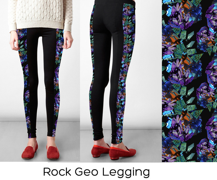 # 1 Legging Option: Rock Geo (S,M, L)