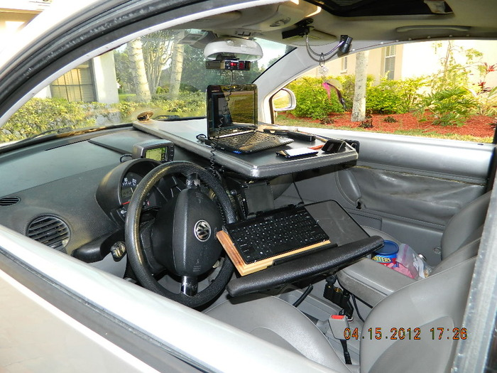 "Dashboards to Desktops Prototype 20"" x 40"" ALL Desk tight passenger fit"