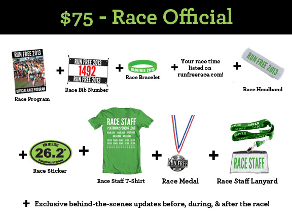 $75 - Race Official