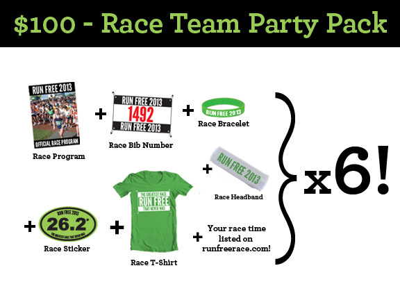 $100 - Race Team Party Pack