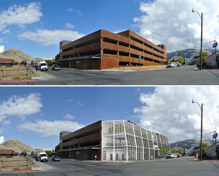 Before and after image of infill lot VHJH will be built on