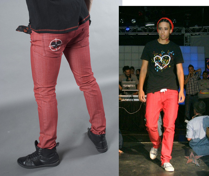 Skinny Jeans, Men's/Women's (colors:red,gray,blue,white,black) sizes: 22-34 // Heart Breaker Graphic Crew Neck T-Shirt, Men's (colors:black,red,white,blue) sizes: S-XL