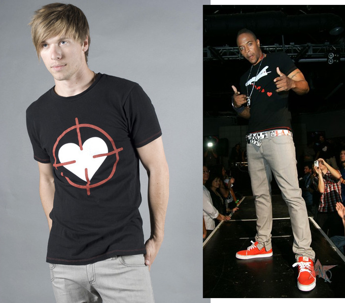 Heart Scope Crew Neck Graphic T-Shirt, Men's (colors:black,red,white,blue) // Heart Bomber Crew Neck Graphic T-Shirt, Men's (colors:black,red,white,blue) sizes: S-XL // Skinny Jeans, Men's/Women's (colors:red,gray,blue,white,black) sizes:22-34