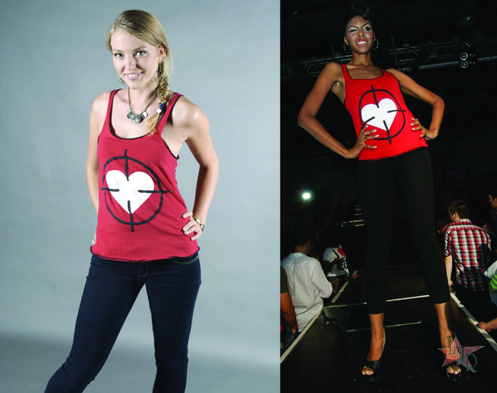 Heart Scope Tank Top, Women's (colors:red,purple,white,black) sizes: XS-XL