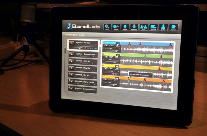 BandLab on an iPad
