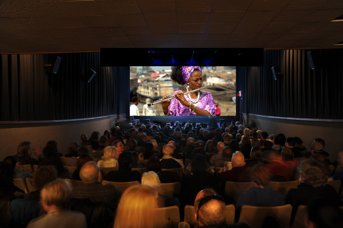 Soldout crowd enjoys Kinshasa Symphony at the Salem Film Fest. [Matt Soule Photo]