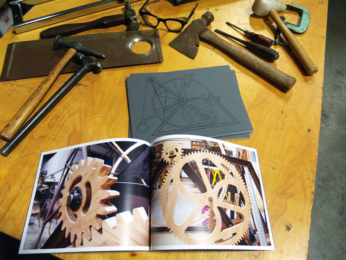 "Example of reward 5, THE BOOK. The book pictured featured beautiful process images of the FREEDOM PRESS commissioned for SFO. The book for this project ""Love, Inertia, and the Pursuit of the Perfect Stance"" will have even more content!"