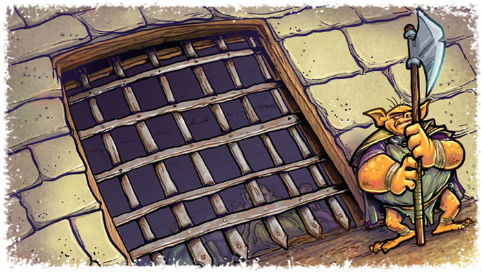 The Prison: The Guardian will hide this room in the dungeon to prevent escape.