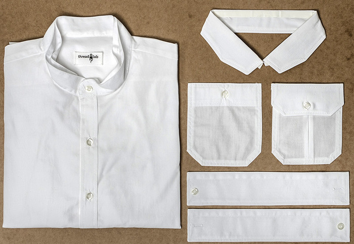 ThreadLab kits are made from fine 100% cotton shirting, and feature exceptional single-needle tailoring throughout.