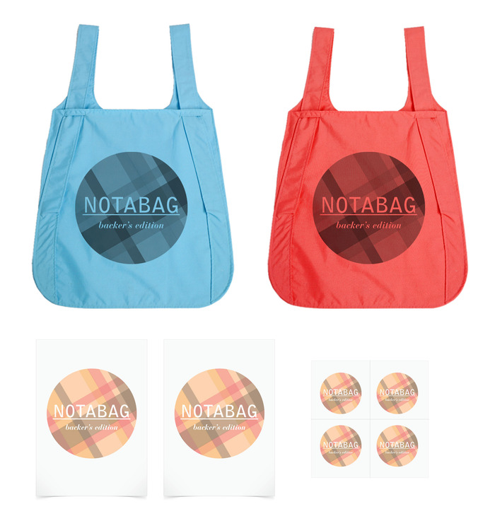 Notabag: Kickstarter Special Edition – available colors are blue & red