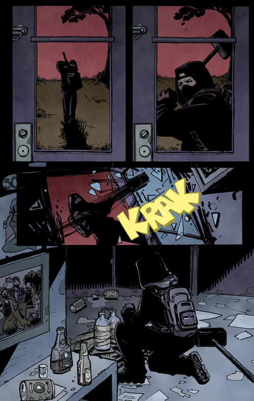 From Issue 1 (unlettered): Damon visits a known dog fighter at home.
